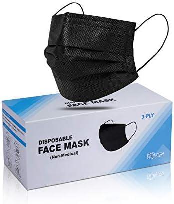 Disposable Face Masks (Black) 50PCS
