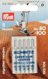 154450 - Nähmaschinennadeln 130/705 LEDER 80-100