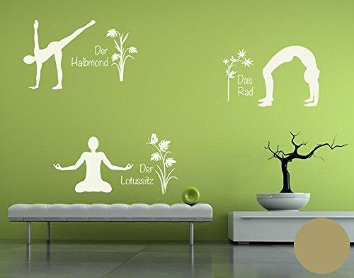 Klebefieber Wandtattoo Yoga Figuren Set 4 4 4 B x H  110cm x 170cm Farbe  Creme B071DWJF9G Wandtattoos & Wandbilder a1213b