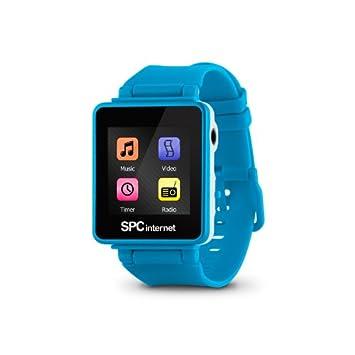 318fc99d961c SPC Reproductor MP4 4GB reloj+tactil+radio Azul  Amazon.es  Electrónica