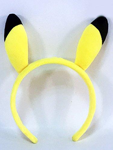 Pikachu Ears And Tail Set (Pokemon Cosplay Pikachu Ear Child Headband)