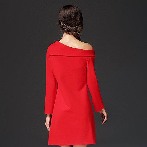 Vestido brillante Rojo Fiesta Vestidos Mujer De Para Slim JIALELE Fiesta Mujer Vestido Bustier Vestido 6Uaxa