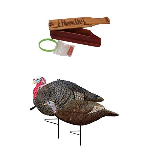 Primos Hook-Up Magnetic Box Call and Gobstopper Jake & Hen Decoy Combo by Primos Hunting