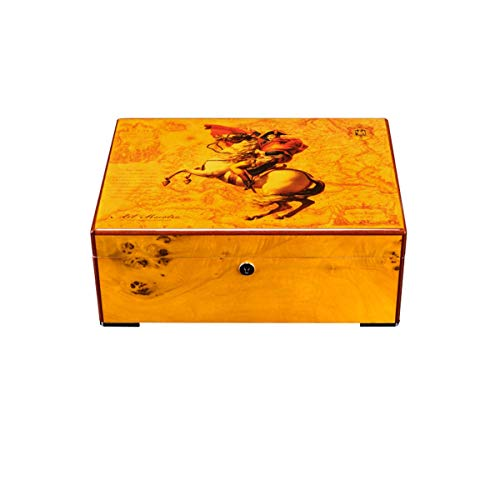 $154.66 cuban crafters humidor QINRUIKUANGSHAN Cigar Box, Painted Cigar Humidor, Vintage Cigar Collection Humidor – The Latest Style (Color : B) 2019