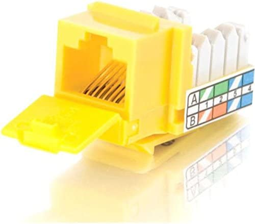 Yellow C2g 90/&Deg; Cat5e Rj45 Utp Keystone Jack