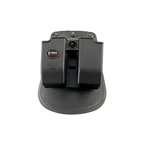 6909NDRP Fobus, Double Mag Pouch, 9mm, 357,&40 Caliber, Roto Paddle, Black