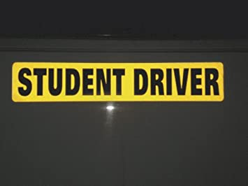 amazon com one student driver magnet reflective vehicle car sign