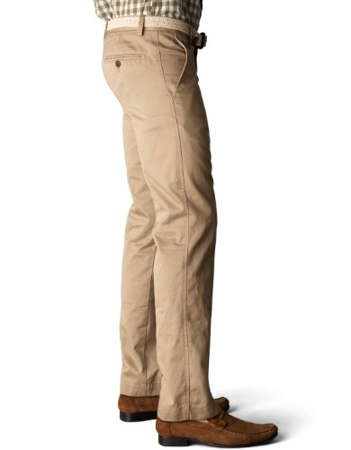 Dockers Men's Signature Khaki D1 Slim Fit Flat Front Pant