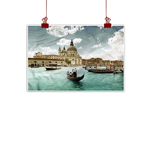 Mangooly Outdoor Nature Inspiration Poster Wilderness Venice,Basilica and Grand Canal 36
