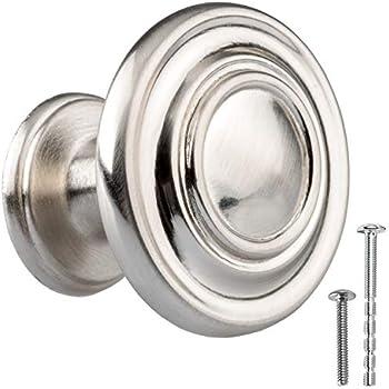 10 Pack Cosmas 7175SN Satin Nickel Cabinet Hardware Round Knob 1-5//16 Inch Diameter 7175SN 10 Pack