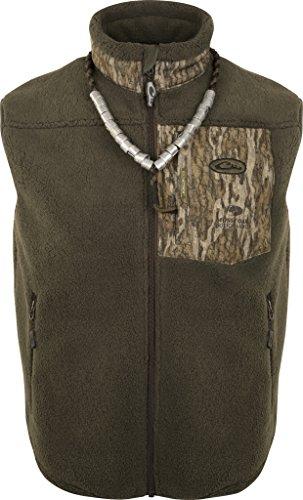 Drake Fleece Vest - Drake MST Sherpa Fleece Hybrid Liner Vest, Color: Mossy Oak Bottomland, Size: X-Large (DW8620-006-4)