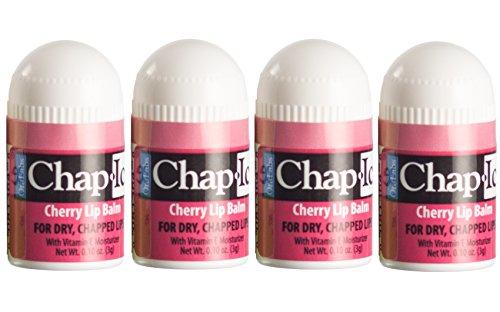 Lot of 4 Oralabs Chap Ice Cherry Lip Balm Mini Cute Bonus Pack ()