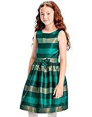 فستان بناتي كبير بياقة مطوية من ذا كيدز بليس