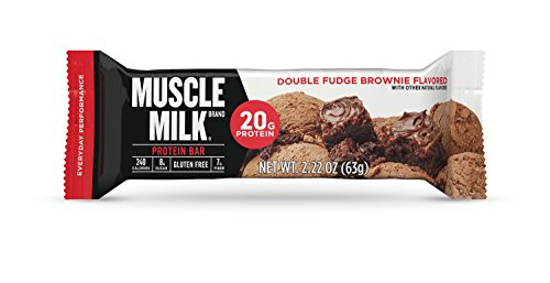 Muscle Milk Protein Bar, Double Fudge Brownie, 20g Protein, 12 (Double Chocolate Fudge Brownies)