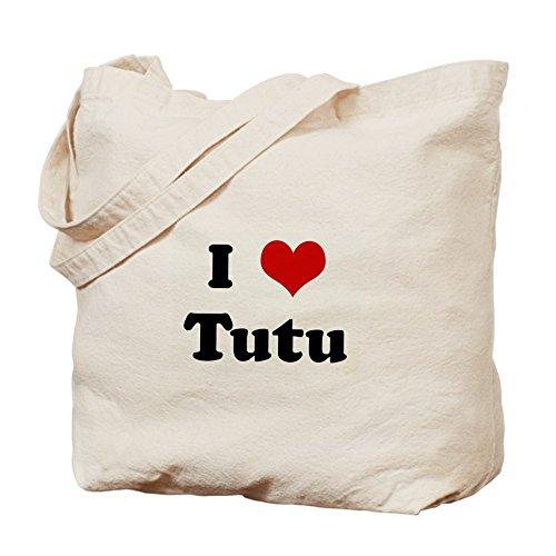 CafePress–I Love tutú Tote Bag–Natural gamuza de bolsa de lona bolsa, bolsa de la compra