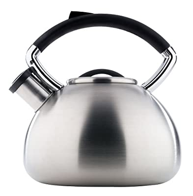 Copco Virtue 2.3 Quart Brushed Stainless Steel Teakettle