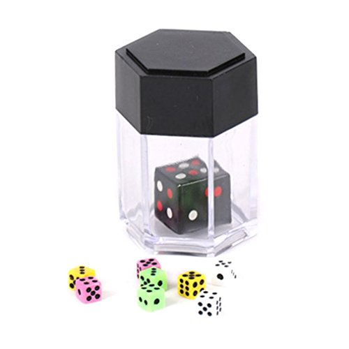 Dice Bomb - Crazy Cube Magic Trick, Sacow Magic Dice Bomb Explosion Dice Mini Colorful Bomb Dice Change Size Kids Magic Trick Toys (Colorful)