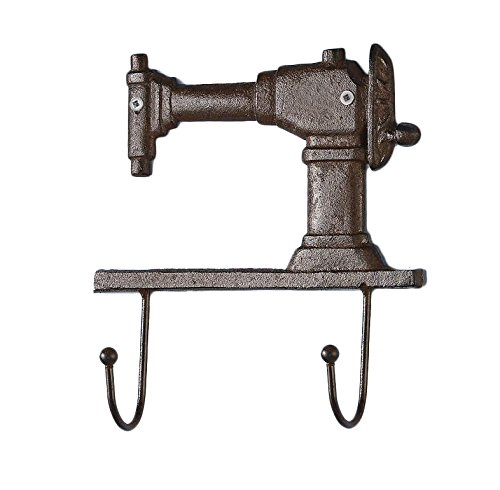 Antique Sewing (Gift Craft Rustic Brown Cast Iron Sewing Machine double Wall)