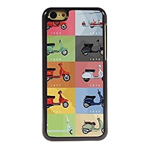 QJM Motorcycle Design Aluminum Hard Case for iPhone 5C