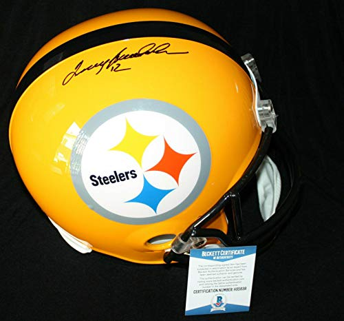 Terry Bradshaw Autographed Helmet - Full Size Throwback Beckett BAS - Beckett Authentication - Autographed NFL Helmets
