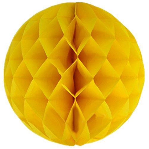 Aimeart Tissue Paper Honeycomb Ball 12 3 Pcs Wedding Celebration Props Festival Store Window Decoration, Yellow