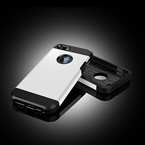 SCSY-phone case Caja dura de la armadura plástica + TPU de la armadura para el iPhone 5 y 5s y SE ( SKU : S-IP5G-5089GD ) S-IP5G-5089W