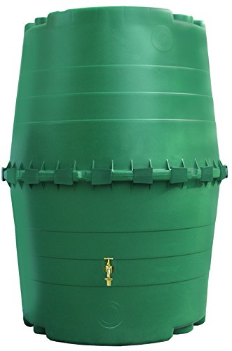 Exaco Trading Company Exaco 323001 Top Tank Commercial Rain Barrel - 345 Gallon, 61.5
