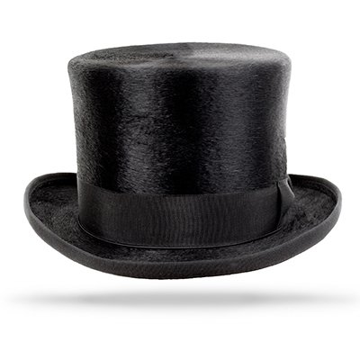 Edwardian Men's Formal Wear Top Hat Beaver $350.00 AT vintagedancer.com