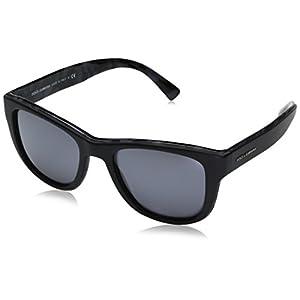 Dolce & Gabbana Men's Acetate Man Square Sunglasses, Top Matte Black on Camo, 54 mm