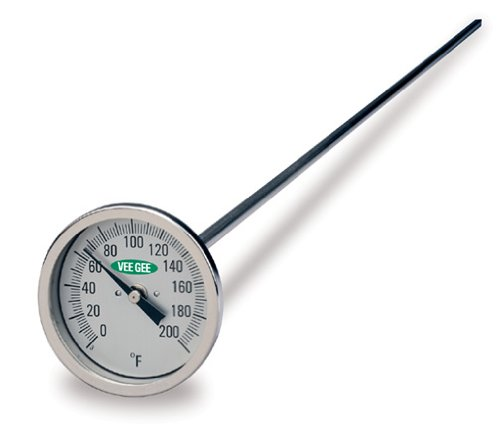 VeeGee Dial Compost Thermometer, with Glass Face, 48