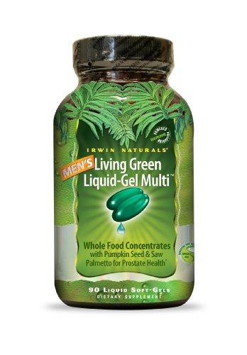 Irwin Naturals Men's Living Green Liquid-Gel Multi Soft-Gels, 90-Count Bottle