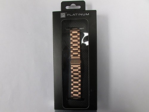 Custom Platinum Chains - Platinum Chain Link Band for Apple Watch 38mm Rose Gold PT-AWB38RGCL