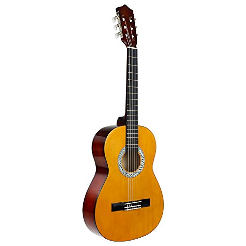 """3/4 Size Classical Acoustic Guitar, Strong Wind 36"""" Inch 6 Nylon Strings Guitar Beginner Kit Guitar Starter Pack with Tuner, Picks, Carrying bag, Strings and Cleaning Cloth for Students Children Adult"""