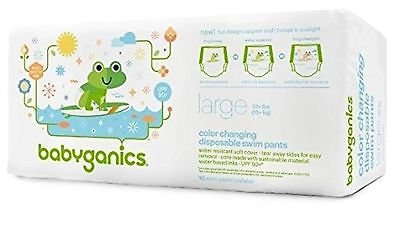 (Babyganics Color Changing Disposable Swim Diapers, Large)