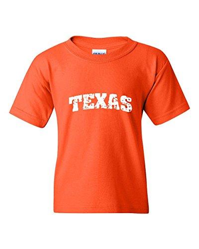 Ugo Texas Flag Houston TX Map Longhorns Bobcats Home State University Unisex Youth Kids T-Shirt - Dress Store Da Zone