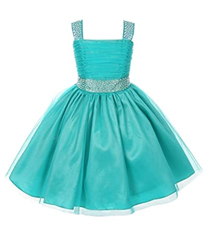 Cinderella Couture Little Girls' Sparkling Rhinestone Party Dress 6 Jade 1195 - Couture Formal Dresses