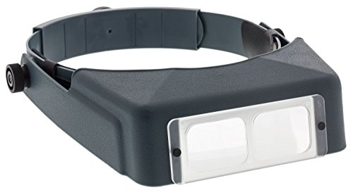 5 Diopter X Magnifier - Donegan LX-5 OptiVISOR Headband Magnifier, 2.25X Magnification Optical-Grade Acrylic Lens Plate, 8
