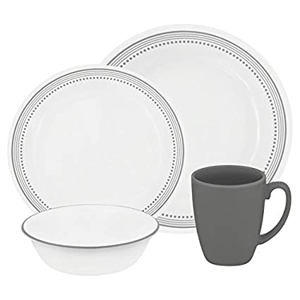Corelle Livingware 32-Piece Dinnerware Set Mystic Gray Service for 8 (Two  sc 1 st  Amazon.com & Amazon.com | Corelle Livingware 32-Piece Dinnerware Set Mystic Gray ...