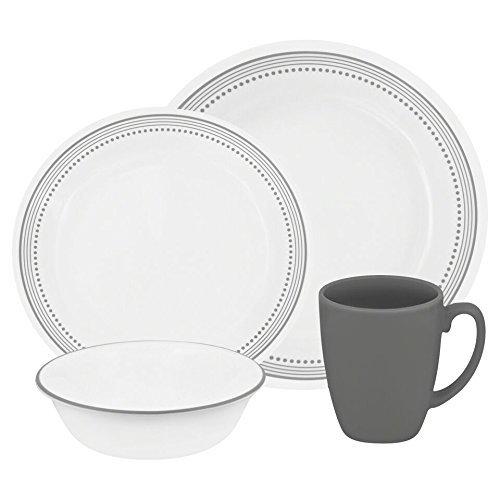 Corelle Livingware 32-Piece Dinnerware Set Mystic Gray Service for 8 (Two  sc 1 st  A Delicate Balance & Corelle Livingware 32-Piece Dinnerware Set Mystic Gray Service for ...