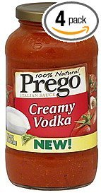Prego Italian Pasta Sauce 23.5oz Jar (Pack of 4) Choose Flavor Below (Creamy Vodka) (Creamy Vodka Sauce)