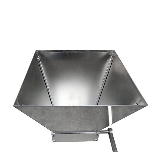 2017 Newest Stainless 2-roller Barley Malt Mill Grain Grinder mill Crusher with stainless hopper For Homebrew beer wine making semfeil