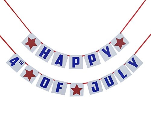Happy 4th of July Banner - Fourth of July Decorations - America Independence Day Party Prop