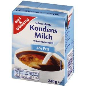 Gut & Günstig - Leche condensada (4 %, 340 g, tetrapack, 20