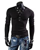 Mens Long Sleeve Slim Fit Henley Shirts