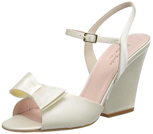 Kate Spade Wedding Shoes (kate spade new york Women's Imari Wedge Sandal, Ivory, 10 M US)
