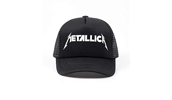 f35b17d106c 2019 Women Men Cool Rock Black Baseball Caps Metallica Band Fans Cap Metal  Rock Music Fans Cotton Trucker Caps at Amazon Men s Clothing store