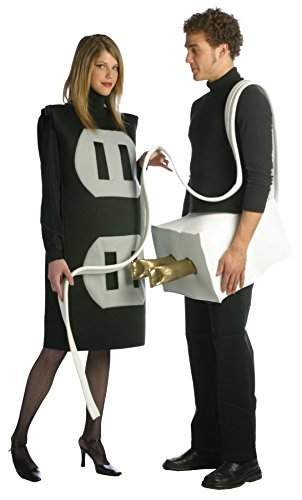[UHC Plug and Socket Set Funny Theme Party Adult Halloween Couple Costume, Plus] (Couples Scary Costumes)