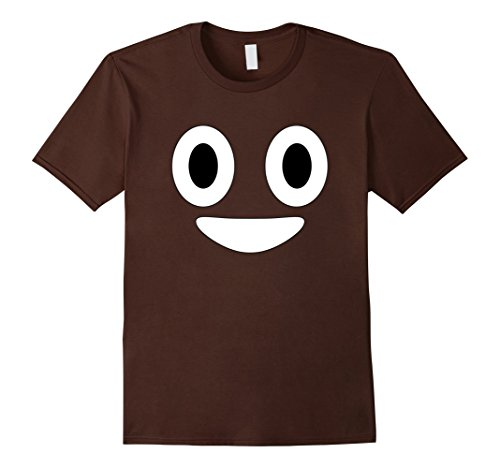 [Men's Halloween Poop Emoji Costume T Shirt XL Brown] (Creative Costume Ideas For Men)