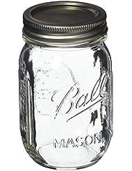 Ball Pint Mason Jar, Regular Mouth, 16 oz (2 Count)