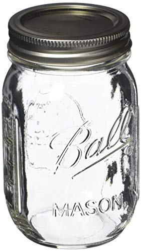 Ball Pint Mason Jar, Regular Mouth, 16 oz (3 Count) by Ball